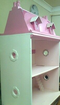 Doll House Wooden Pink & White Barbie Sized Mascot
