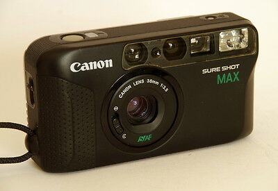 Canon Sure Shot Max 35mm film camera with 38mm f3.5 lens lomography