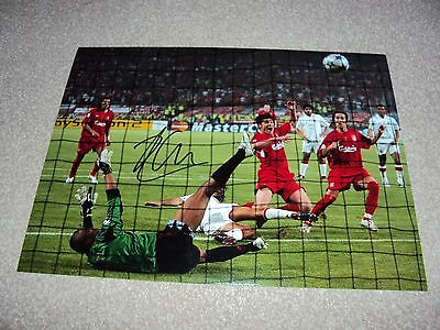 16x12 PHOTO HAND SIGNED XABI ALONSO PENALTY GOAL LIVERPOOL 2005 ISTANBUL LEGEND