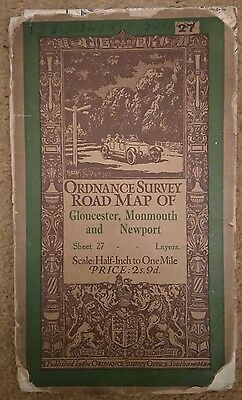 Gloucester, Monmouth and Newport Half Inch Ordnance Survey Map Sheet 27