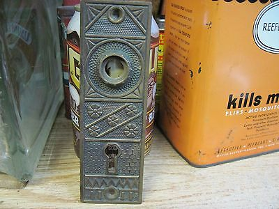 Victorian cast bronze doorknob BACK PLATE door knob brass antique Eastlake