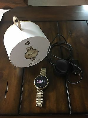 Motorola Mobility Moto 360 Androidwear Smartwatch Watch Champagne Gold SLIM BAND