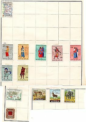 13 Stamps of Angola from Stamp Album