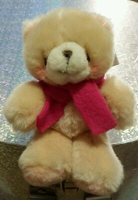 Forever Friends Mini Plush Pink Fleece Scarf Bear, With Tags