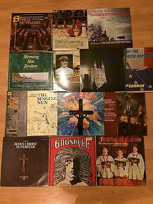 Job Lot Vinyl Records X13 LpS .religious