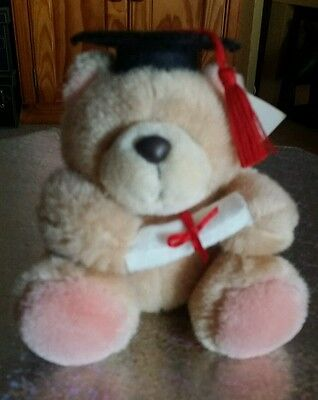 Forever Friends Vintage Small Sitting Plush Graduation Bear with Tags, Item 128
