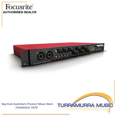 Focusrite Scarlett 18i20 2nd Generation USB Audio Interface with Mic Preamps