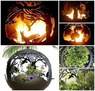Australiana Fire Pit Ball - Big!  70cm x 80cm - 6mm steel. FREE DELIVERY AU WIDE