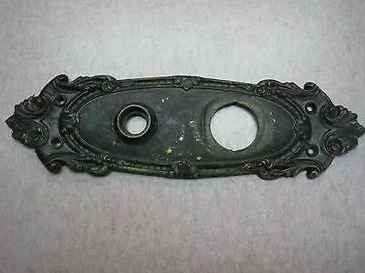 Antique Door Lock brass bronze Ornate Back Plate Key Cover Large escutcheon 9 58