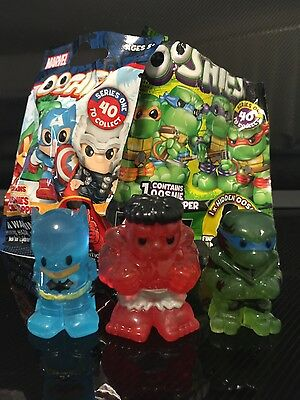 Ooshies 3 X Limited Edition, Red Hulk , Crystal Blue Batman And Night Shadow Leo