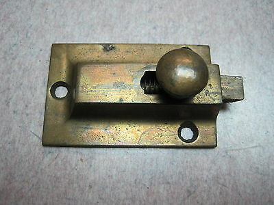 cabinet latch antique BRONZE on castiron   jelly catch rustic cupboard NO KEEPER