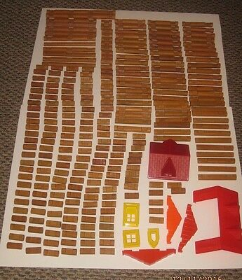 Lincoln Logs & Plastic Pieces Large Mixed Lot
