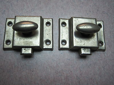 2 cabinet latch antique BRIGHT jelly catch rustic cupboard NO KEEPERS