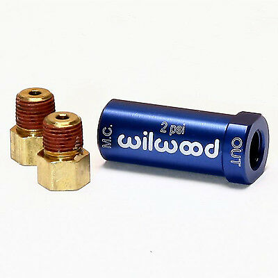 Wilwood 260-13783 Residual Pressure Valve Blue Anodized 2 PSI Disc Brakes 1/8 in