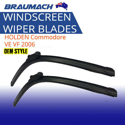 Wiper Blades Aero Tech Suit HOLDEN Commodore VE VF 2006 on  (L+R) Braumach
