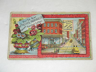 Reeves Parvin & Co Roasted Coffees Victorian Trade Card