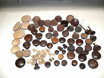 Antique Assorted Wooden Drawer Puls Knobs