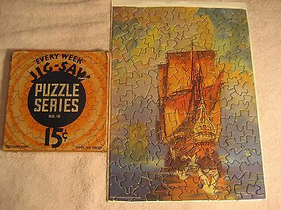 "Vintage  Every Week Jigsaw Puzzle #15  ""the Treasure Ship"" 160 Pieces"