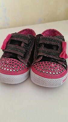 Lovely girls LIGHT UP SKETCHER TWINKLE TOES ***** toddler sz 5