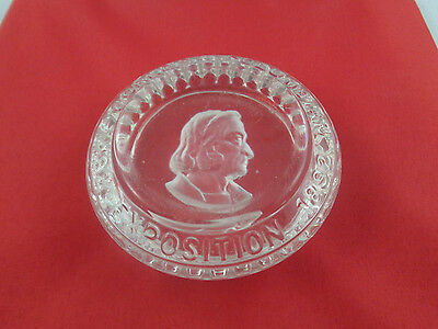 Vintage Glass Paperweight-World's Columbian Exposition 1892