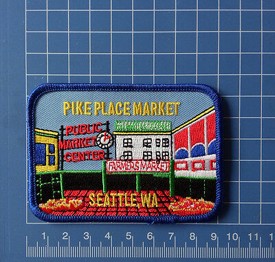 Pike Place Market patch iron on Travel Memorabilia