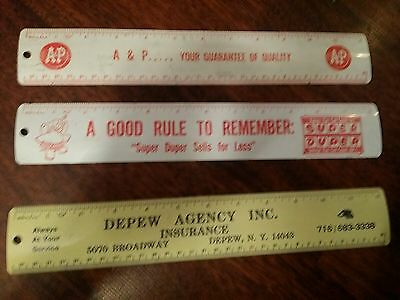 vintage advertising metal ruler lot buffalo ny