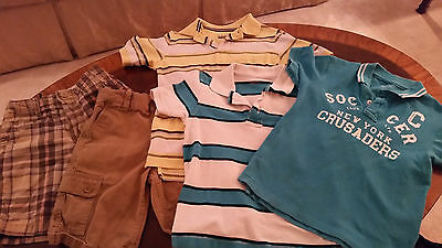 Lot of 5, Boys Short Sleeve Tops and Shorts Size 6-7 GapKids, Sonoma