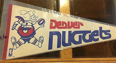 Vintage Denver Nugget Pennant Signed By Dan Issell