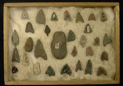 Japan Hirosaki City Aomori Prefecture Jomon 31 Pc Arrowheads Artifacts Ancient!!