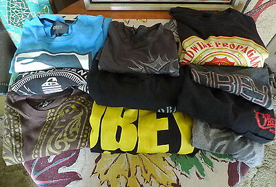 Men's OBEY Wholesale Lot Of 10 Printed T Shirt Various Sizes