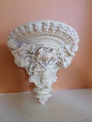Antique Ornate Soapstone Hanging Shelf With Cupids