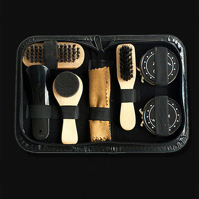 Deluxe Shoe Care Kit Polish Brush Shine Kit for Boots Shoes Sneakers Cleaning DR
