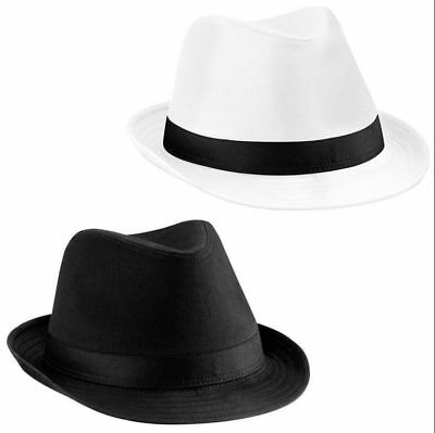 0901ea236 CAPPELLO FEDORA TRILBY GANGSTER STILE FASCIA BLUES BROTHERS Unisex ...