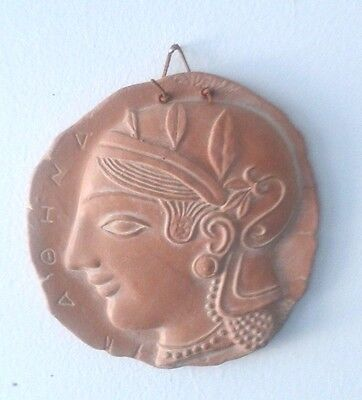 GREEK Goddess Athena Decorative Terracotta Relief Tile Museum Reproduction