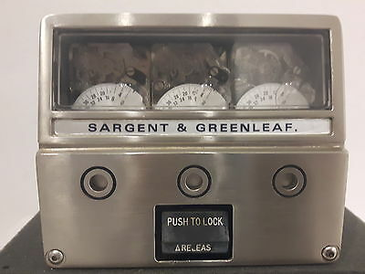Sargent & Greenleaf Older Style 6300 Series 3 Movement Timelock With S&g Dials