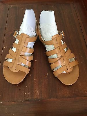 Wittner Tan Leather Strappy Buckle Sandals. Size 39