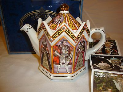 Sadler Made in England Henry VIII and Wives Collector Teapot NIB