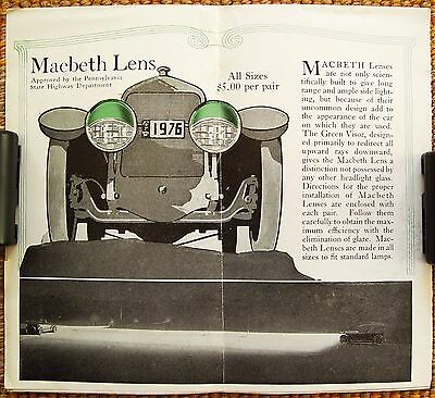 1919 Macbeth Lens Macbeth-Evans Glass Pittsburg PA Foldout Map Vintage Brochure