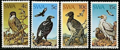 SOUTH WEST AFRICA Sc#373-6 SG#270-3 1975 Birds of Prey Complete Mint NH