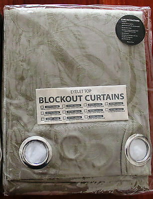 Eyelet Top Blockout Curtains - Taupe