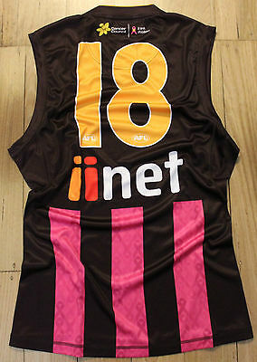Hawthorn Player Issue Pink Breast Cancer Awareness Jumper Guernsey