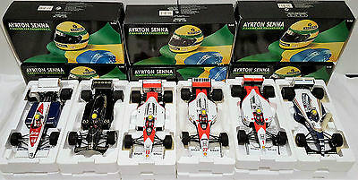 Ayrton Senna F1 Collection, 6 x 1:18 Scale Minichamps Models