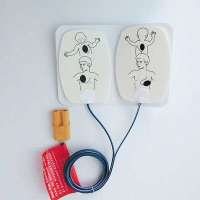 One pair Electrodes Replacement Child Pads Defibrillate AED Tranining Pads