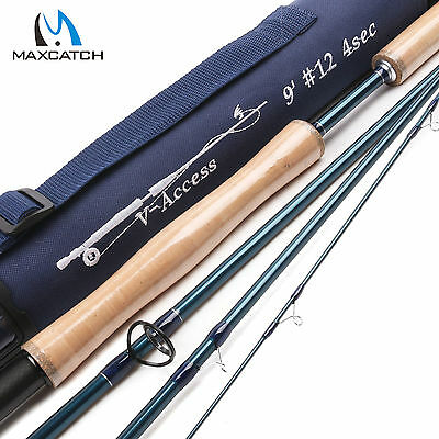 Maxcatch 12WT 9FT 4 Sec Fast-Action Graphite(IM10) Fly Fishing Rod & Rod Tube