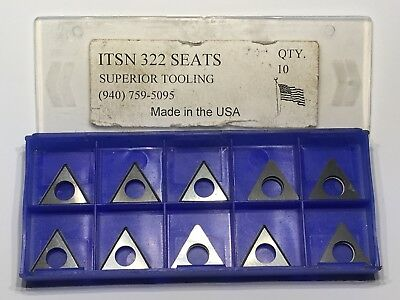 SUPERIOR TOOLING PROD. Carbide Cutting Tool Inserts, ITSN 322 SEATS, 16 pc