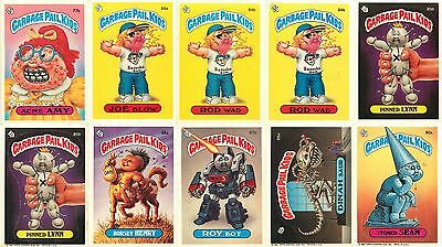 Lot of (10) 1986 Garbage Pail Kids Trading Cards - (D)