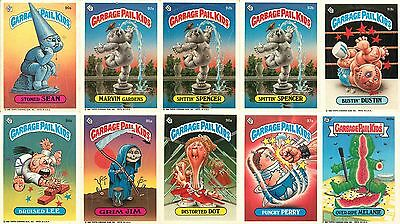 Lot of (10) 1986 Garbage Pail Kids Trading Cards - (E)
