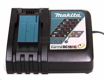 Makita 14V-18V 1.5-5Ah Lithium Ion Battery Fast Charger Dc18Rc Genuine Makita Oz