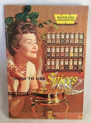 Watkins Products HOW TO USE SPICES 1958 Recipe Booklet Advertising