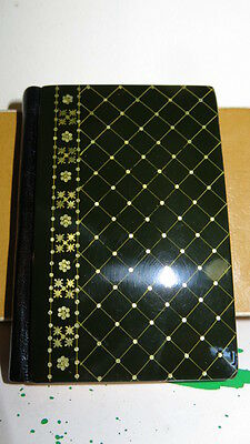 Russian Antique diary/address/note Book High Gloss Lacquer Piano Finish Cover Bx